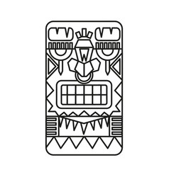 mayan warrior designed vector image