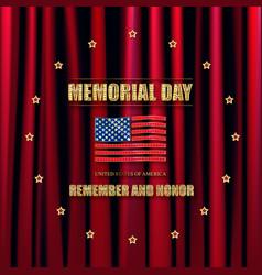 memorial day greeting card vector image