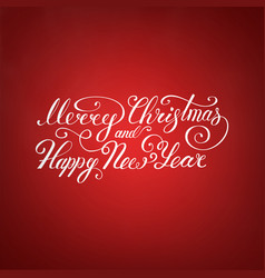 merry christmas text happy new year vector image