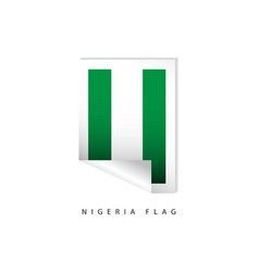 nigeria label flags template design vector image