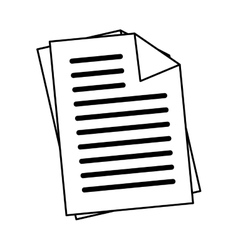 Office documents sheets icon vector