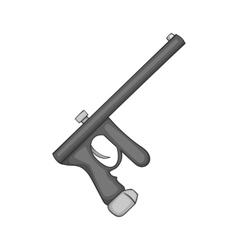 Paintball gun icon black monochrome style vector image