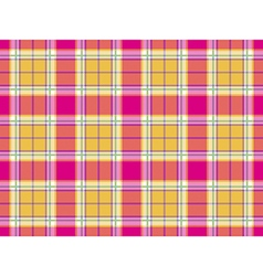 Plaid indian madras fabric texture seamless vector