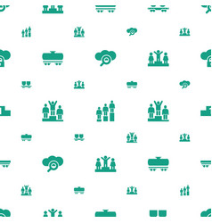 platform icons pattern seamless white background vector image