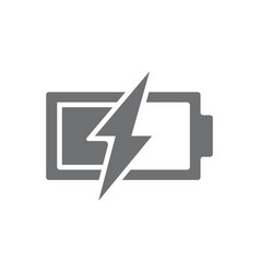 Power battery with lightning bolt icon vector