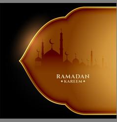 Ramadan kareem beautiful in golden theme vector