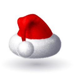 Realistic santa hat isolated on white vector
