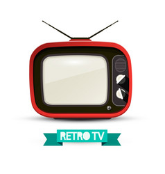 Retro television isolated on white background vector
