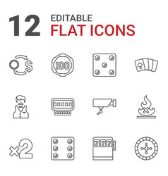 risk icons vector image
