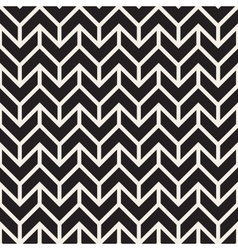 Seamless Black and White Geometric Chevron vector