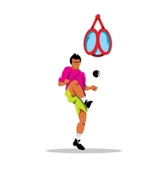 Sepak Takraw Thailand Sport Cartoon vector image