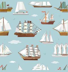ship boat miniature vessel old vintage vector image