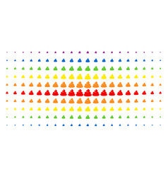 Shit spectrum halftone grid vector
