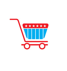 Shopping cart logo vector