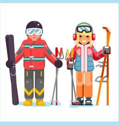 Ski recreation skier mountain winter mountains vector