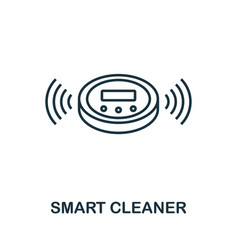 smart cleaner outline icon creative design from vector image