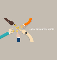 Social entrepreneurship concept of business with vector