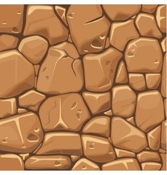 Stone texture in brown colors seamless background vector image