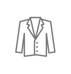 tuxedo jacket coat line icon vector image