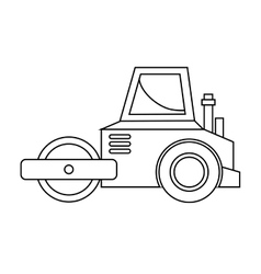 Under construction planer icon vector