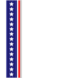 Us flag ribbon decoration frame vector
