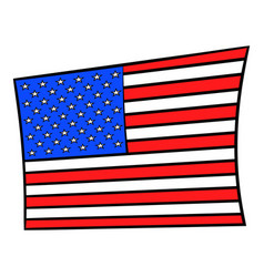 usa flag icon cartoon vector image