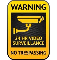 Video surveillance label vector image