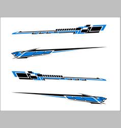 vinyls sticker set decals for car truck mini bus vector image