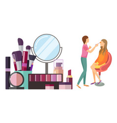 Visage makeup visagiste professional icon vector