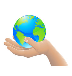 world in your hand concept vector image