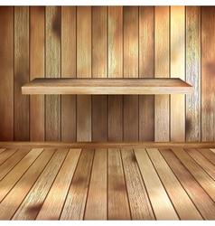 Empty interior with wood shelf EPS 10 vector image
