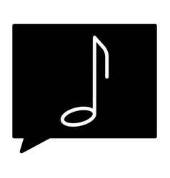 music note silhouette icon pictogram vector image