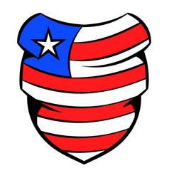 neckerchief in usa flag colors icon cartoon vector image