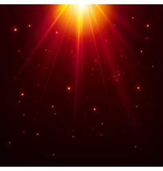 Red top magic light vector image vector image