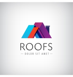 roofs house icon logo isolated vector image vector image