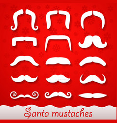 santa mustaches vector image vector image