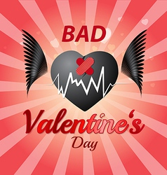 Bad valentines day vector image