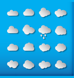 cloud shapes collection cloud icons for cloud vector image