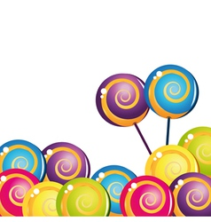 colorful delicious lollipop collection vector image vector image