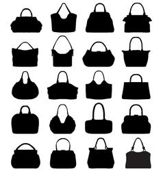 handbags 3 vector image vector image