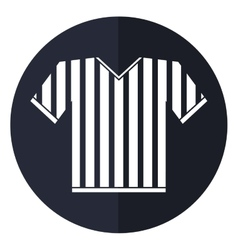 jersey referee american football shadow vector image