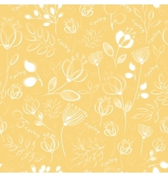 seamless pattern White flowers vector image vector image
