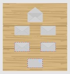 Set of envelope vector image vector image