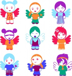 angel dolls vector image