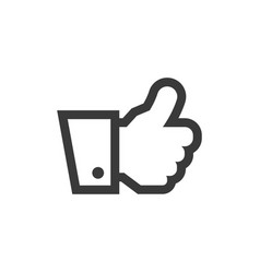 hand thumbs up icon symbol vector image vector image