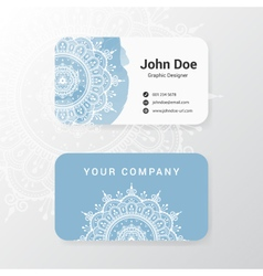 Lovely business name card template design vector image vector image