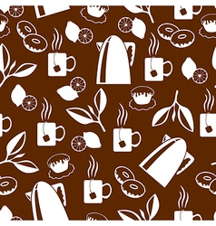 tea breack pattern brown vector image