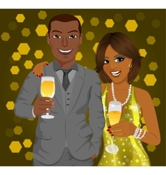 African american business man and elegant woman vector image