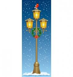 Christmas street lantern vector image vector image