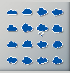 cloud shapes collection cloud icons for cloud vector image vector image